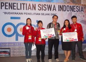 Prestasi siswa/siswi SMA Gembala Baik di ajang OPSI 2015